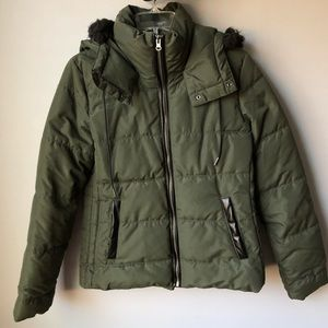 Olive Green Puffer Jacket Size Small